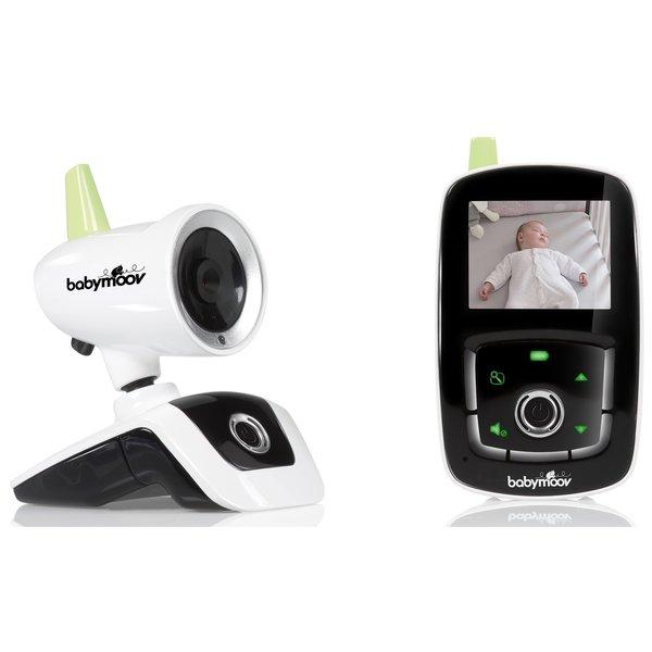 Babymoov Visio Care 3 Babyfon mit Kamera, Nachtsicht und Reichweitenkontrolle, 2,4 Zoll display