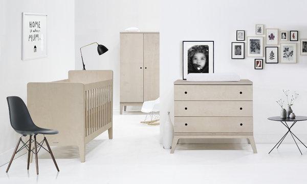 KIDSMILL Kinderzimmer Fay Buche komplett mit Bett 70/140