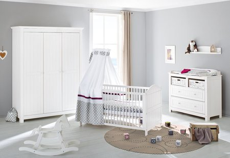 Pinolino Kinderzimmer Nina mit 3 türigem Kleiderschrank günstig ...