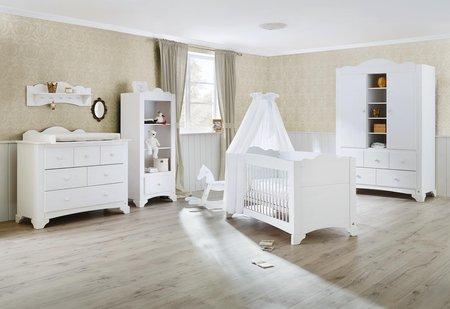 Pinolino Kinderzimmer 'Pino' mit breiter Wickelkommode und großem Kleiderschrank