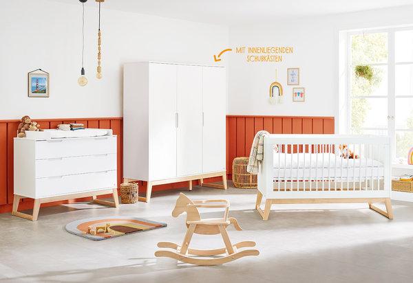 Pinolino Kinderzimmer 'Bridge' breite Wickelkommode großer Kleiderschrank