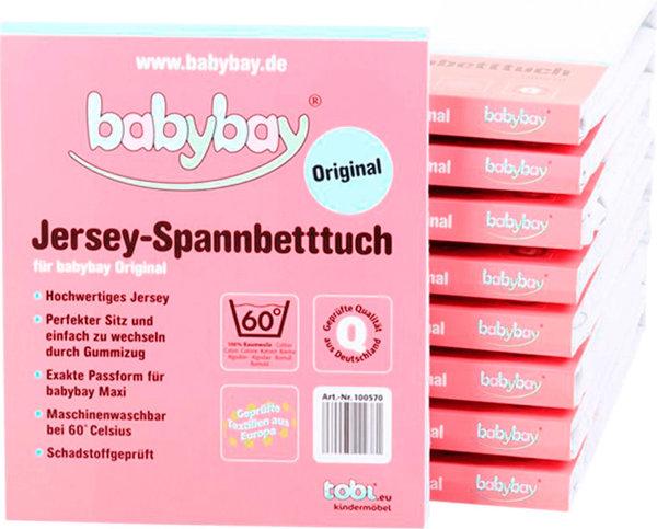 babybay Jersey Spannbetttuch für Original weiß 100570